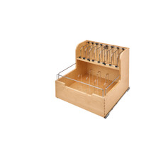 Rev-A-Shelf 4FSCO-24SC-1 Food Storage Container Organizer Soft Close - Natural