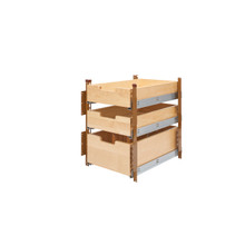 Rev-A-Shelf 4PIL-18SC-3 15 in Wood Pilaster System Kit - Natural