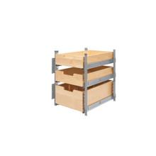 Rev-A-Shelf 4PIL-18SC-SV-3 15 in Wood Pilaster System Kit - Natural