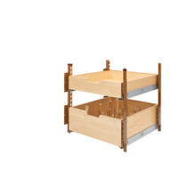 Rev-A-Shelf 4PIL-24SC-2 21 in Wood Pilaster System Kit - Natural