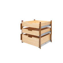 Rev-A-Shelf 4PIL-24SC-3 21 in Wood Pilaster System Kit - Natural