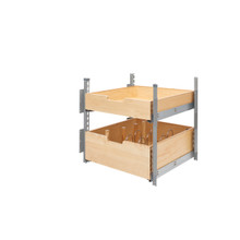 Rev-A-Shelf 4PIL-24SC-SV-2 21 in Wood Pilaster System Kit - Natural