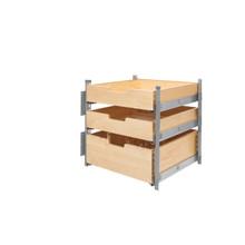 Rev-A-Shelf 4PIL-24SC-SV-3 21 in Wood Pilaster System Kit - Natural