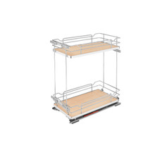 Rev-A-Shelf 5322-BCSC-11-MP Two-Tier Wire Organizer with Blum Soft-Close - Natural