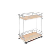 Rev-A-Shelf 5322-BCSC-11-MP Two-Tier Wire Organizer with Blum Soft-Close - Natural