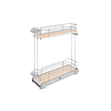 Rev-A-Shelf 5322-BCSC-6-MP Two-Tier Wire Organizer with Blum Soft-Close - Natural