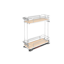 Rev-A-Shelf 5322-BCSC-8-MP Two-Tier Wire Organizer with Blum Soft-Close - Natural