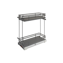 Rev-A-Shelf 5322-BCSC-9-FOG Two-Tier Wire Organizer with Blum Soft-Close - Gray
