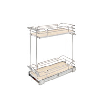 Rev-A-Shelf 5322-BCSC-9-MP Two-Tier Wire Organizer with Blum Soft-Close - Natural