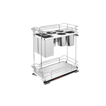 Rev-A-Shelf 5322KB-BCSC-11-GR Two-Tier Knife Organizer with Blum Soft-Close - Gray