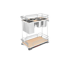 Rev-A-Shelf 5322KB-BCSC-11-MP Two-Tier Knife Organizer with Blum Soft-Close - Natural