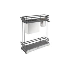 Rev-A-Shelf 5322KB-BCSC-6-FOG Two-Tier Knife Organizer with Blum Soft-Close - Gray