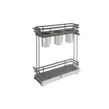 Rev-A-Shelf 5322UT-BCSC-6-FOG Two-Tier Utility Organizer with Blum Soft-Close - Gray