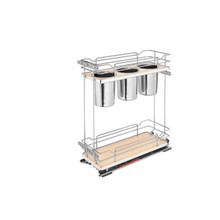 Rev-A-Shelf 5322UT-BCSC-6-MP Two-Tier Utility Organizer with Blum Soft-Close - Natural