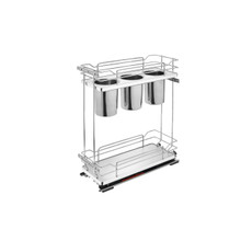 Rev-A-Shelf 5322UT-BCSC-8-GR Two-Tier Utility Organizer with Blum Soft-Close - Gray