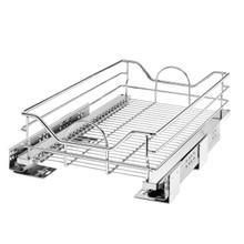 Rev-A-Shelf 5730-15CR 15 in Chrome Pullout Basket w/Soft-Close