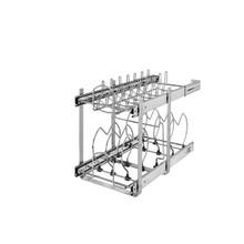 Rev-A-Shelf 5CW2-1222-CR 12 in Two-Tier Cookware Organizer - Chrome