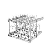Rev-A-Shelf 5CW2-2122-CR 21 in Two-Tier Cookware Organizer - Chrome