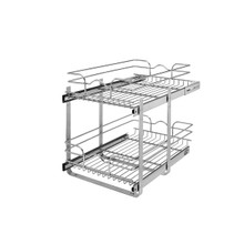 Rev-A-Shelf 5WB2-1522CR-1 15 in x 22 in Two-Tier Pull-Out Baskets - Chrome