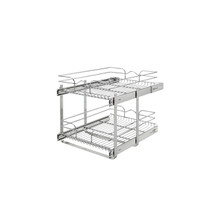 Rev-A-Shelf 5WB2-1822CR-1 18 in x 22 in Two-Tier Pull-Out Baskets - Chrome