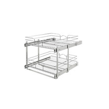 Rev-A-Shelf 5WB2-2122CR-1 21 in x 22 in Two-Tier Pull-Out Baskets - Chrome