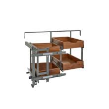 Rev-A-Shelf 499-18-LWN 18 in Two-Tier Blind Corner Org for Blind Right - Walnut