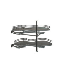 Rev-A-Shelf 5372-15-FOG-L 15 in Two-Tier Organizer for a Blind Right - Gray