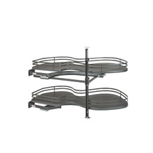 Rev-A-Shelf 5372-18-FOG-L 18 in Two-Tier Organizer for a Blind Right - Gray