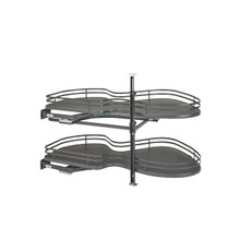 Rev-A-Shelf 5372-21-FOG-L 21 in Two-Tier Organizer for a Blind Right - Gray