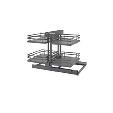 Rev-A-Shelf 53PSP-15SC-FOG 15 in Orion Gray Blind Corner Organizer Soft-Close