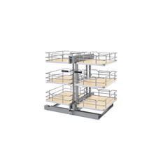 Rev-A-Shelf 53PSP3-15SC-MP 15 in. Maple Three-Tier Organizer w/Soft-Close - Natural