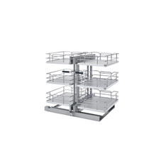 Rev-A-Shelf 53PSP3-18SC-GR 18 in. Gray Three-Tier Organizer w/Soft-Close