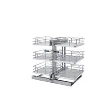Rev-A-Shelf 53PSP3-18SC-GR 18 in. Gray Three-Tier Organizer w/Soft-Close