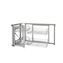 Rev-A-Shelf 5707-15CR 15 in Chrome Blind Corner Organizer Soft Close