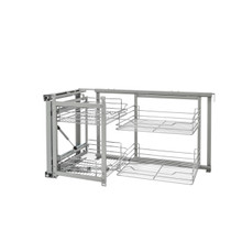 Rev-A-Shelf 5707-18CR 18 in Chrome Blind Corner Organizer Soft Close