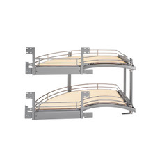Rev-A-Shelf 582-18-LMP 18 in Two-Tier Curve Organizer for a Blind Left - Chrome
