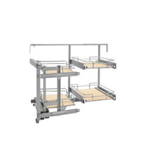 Rev-A-Shelf 599-18-LMP 18 in Two-Tier Organizer for a Blind Left - Chrome