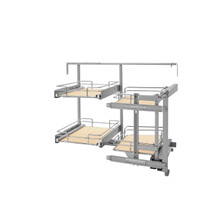 Rev-A-Shelf 599-18-RMP 18 in Two-Tier Organizer for a Blind Right - Chrome