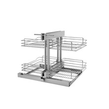 Rev-A-Shelf 5PSP-15SC-CR 15 in Chrome Blind Corner Organizer Soft-Close