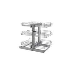Rev-A-Shelf 5PSP3-15SC-CR 15 in Three-Tier Blind Corner Organizer Soft -Close - Chrome
