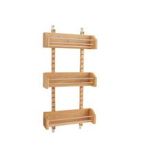 Rev-A-Shelf 4ASR-18 Medium Adjustable Door mount Spice Rack - Natural