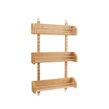 Rev-A-Shelf 4ASR-21 Large Adjustable Door mount Spice Rack - Natural