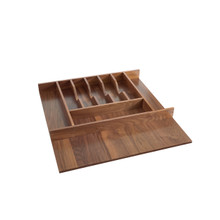 Rev-A-Shelf 4WCT-WN-3SH Short Walnut Cutlery Tray Insert - Walnut