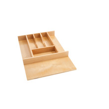 Rev-A-Shelf 4WCT-1SH Short Wood Cutlery Tray Insert - Natural