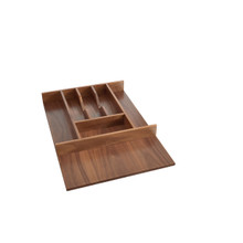 Rev-A-Shelf 4WCT-WN-1SH Short Walnut Cutlery Tray Insert - Walnut