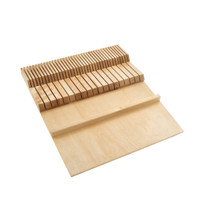 Rev-A-Shelf 4WDKB-1 Double Knife Block Drawer Insert-Wood - Natural