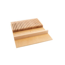 Rev-A-Shelf 4WKB-1 Knife Block Drawer Insert-Wood - Natural