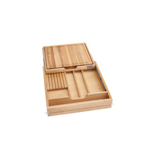 Rev-A-Shelf 4KCB-24SC-1 24 in Knife and Cutting Board Drawer Kit w/Soft-Close Slides - Natural