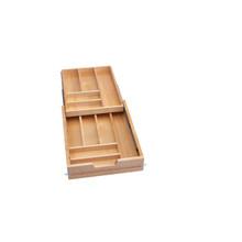 Rev-A-Shelf 4WTCD-419FL-1 16.5 in Frameless Tiered Cutlery Drawer Only - Natural