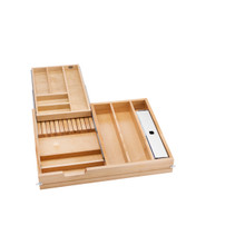 Rev-A-Shelf 4WTCD-724FLSC-1 28.5 in Frameless Tiered Cutlery Drawer w/Soft-Close Slides - Natural